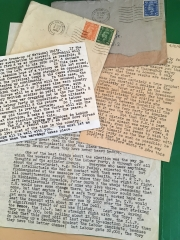 A sample of the author's father's war-time letters